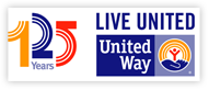 123 Year United Way Logo